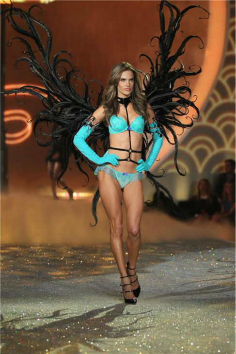 Alessandra Ambrosio walks the runway at the 2013 Victoria&#39;s Secret Fashion Show at the Lexington Armory in New York on Nov. 13, 2013. <span class=meta>(Amanda Schwab &#47; Startraksphoto.com)</span>