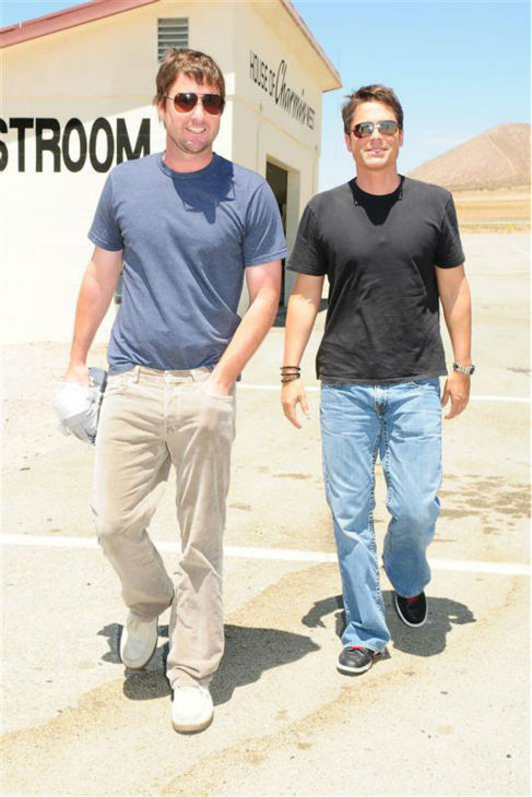 The time Luke Wilson knew Rob Lowe was incredibly good-looking, at an event celebrating the unveiling of the new Dodge Challenger at the Willow Springs raceway in Los Angeles on June 3, 2008. <span class=meta>(Clark Samuels &#47; Startraksphoto.com)</span>