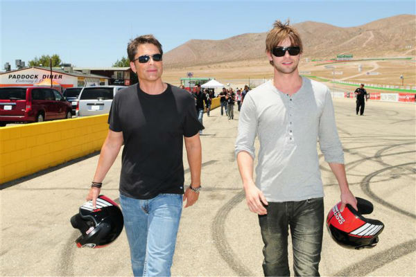 The time Chase Crawford &#40;&#39;Gossip Girl&#39;&#41; knew Rob Lowe was incredibly good-looking, at an event celebrating the unveiling of the new Dodge Challenger at the Willow Springs raceway in Los Angeles on June 3, 2008. <span class=meta>(Clark Samuels &#47; Startraksphoto.com)</span>