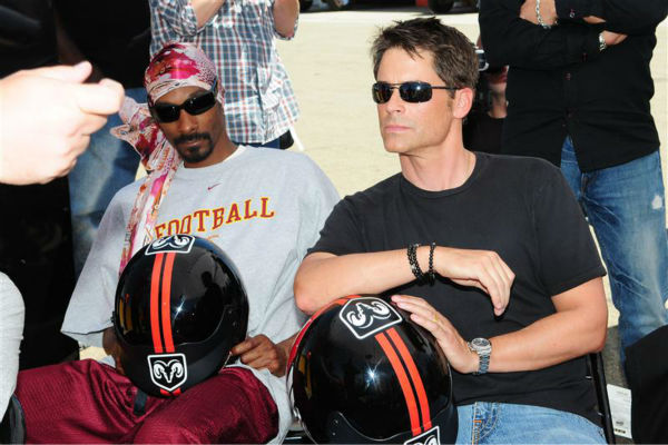 The time Snoop Dogg knew that Rob Lowe was incredibly good-looking -- FO SHIZZLE! -- at an event celebrating the unveiling of the new Dodge Challenger at the Willow Springs raceway in Los Angeles on June 3, 2008. <span class=meta>(Clark Samuels &#47; Startraksphoto.com)</span>