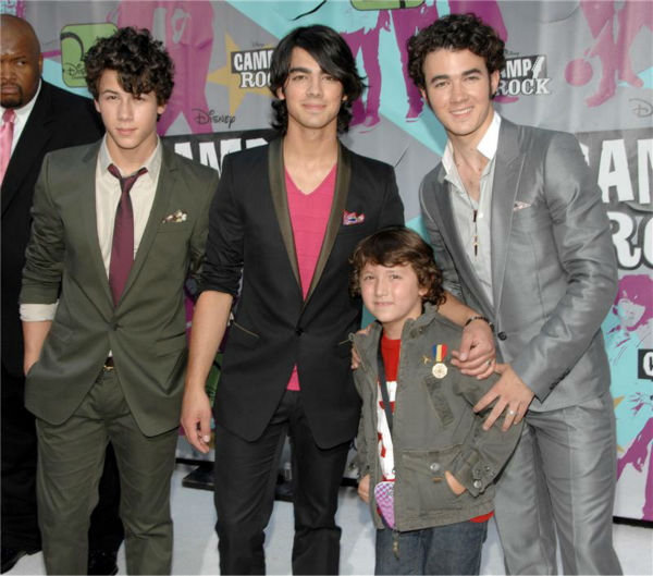 The time the Jonas Brothers brought their little brother, Frankie, to the premiere of their Disney Channel movie &#39;Camp Rock&#39; in New York on June 11, 2008. <span class=meta>(Paul Hawthorne &#47; Startraksphoto.com)</span>