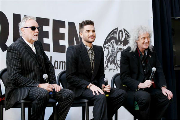 "<div class=""meta ""><span class=""caption-text "">Adam Lambert appears with Queen members Brian May and Roger Taylor at a press conference at New York City's Madison Square Garden on March 6, 2014, in which they announced a summer North American tour. (Mario Curtis / Startraksphoto.com)</span></div>"