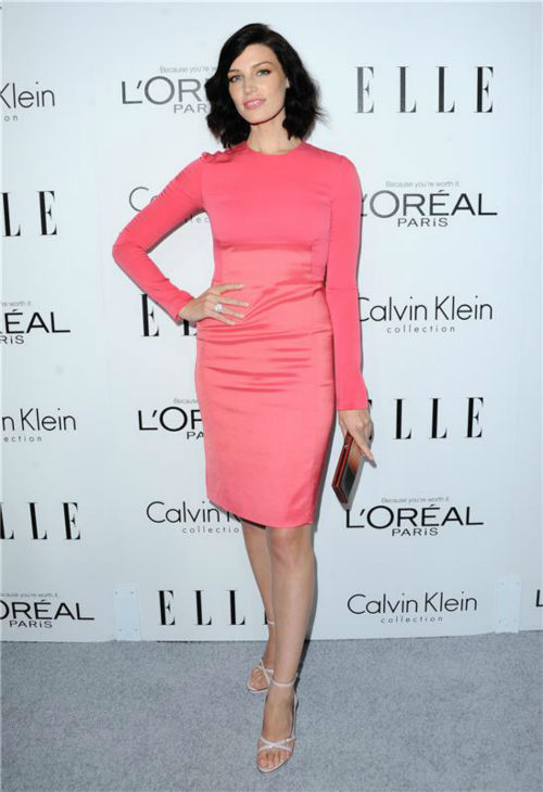 Jessica Pare of 'Mad Men' attends ELLE's 20th Annual Women In Hollywood gala in Beverly Hills, California on Oct. 21, 2013.