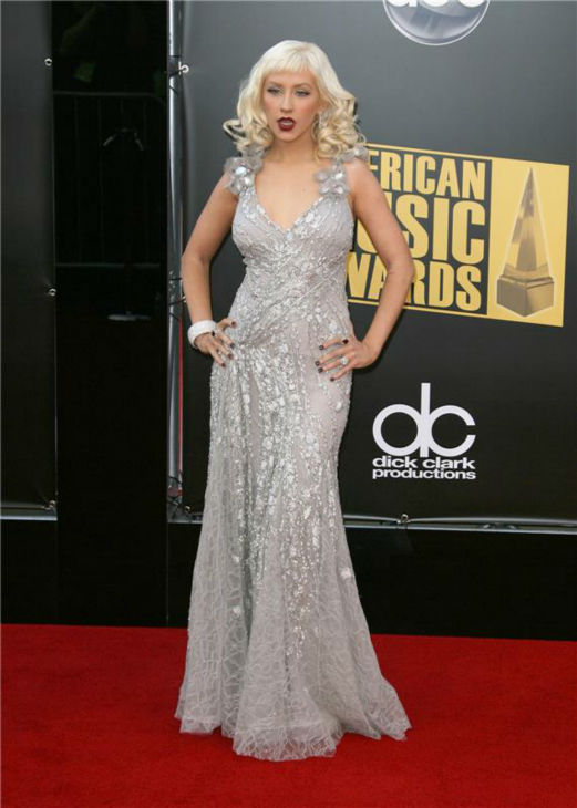 Christina Aguilera walks the red carpet at the 2008 American Music Awards in Los Angeles on Nov. 23, 2008. <span class=meta>(Andy Fossum &#47; Startraksphoto.com)</span>