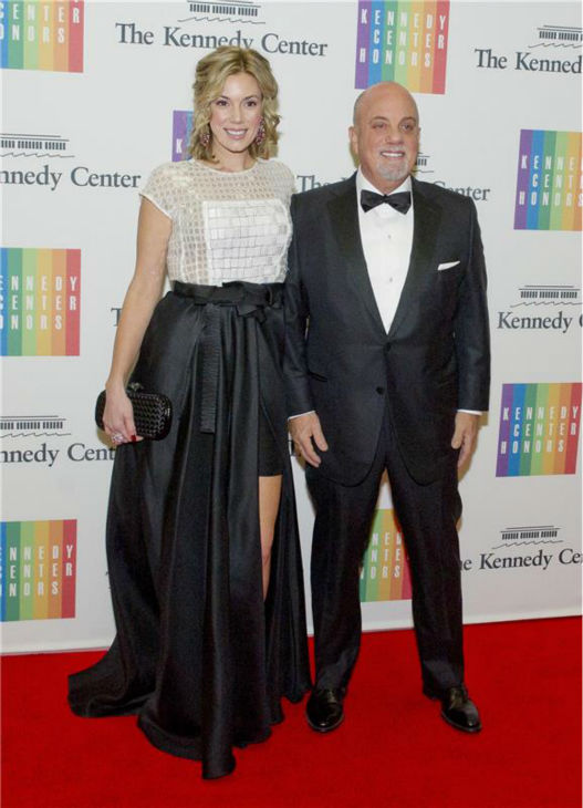Billy Joel and girlfriend Alexis Roderick attend a ceremony for the 2013 Kennedy Center honorees in Washington D.C. on Dec. 8, 2013. The singer was one of the five. <span class=meta>(Ron Sachs &#47; Startraksphoto.com)</span>