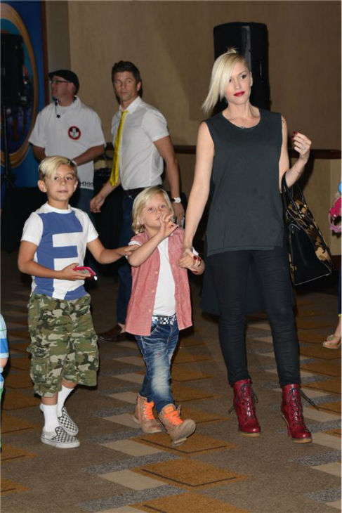 Gwen Stefani and sons Kingston and Zuma attend the premiere of the Disney Junior Live On Tour! Pirate and Princess Adventure event in Hollywood, California on Sept. 29, 2013. <span class=meta>(Tony DiMaio &#47; Startraksphoto.com)</span>