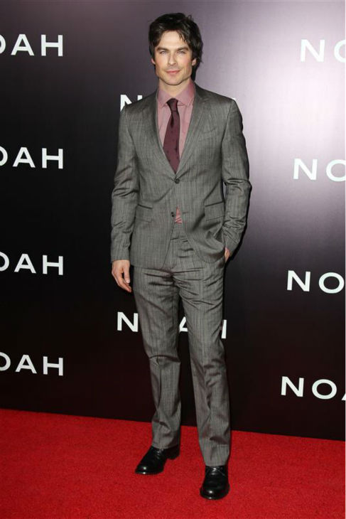 Ian Somerhalder of the CW series &#39;The Vampire Diaries&#39; appears at the premiere of &#39;Noah&#39; in New York on March 26, 2014. He does not appear in the movie, which was directed by Darren Aronofsky. <span class=meta>(Kristina Bumphrey &#47; Startraksphoto.com)</span>