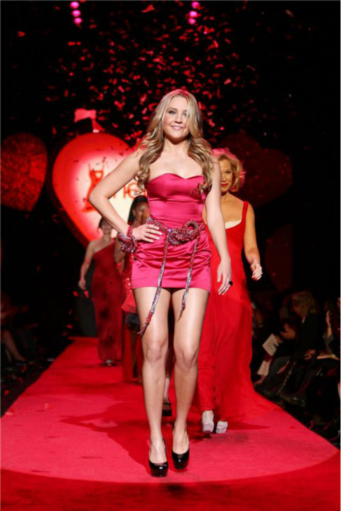 Amanda Bynes walks the runway at the Heart Truth&#39;s Red Dress Collection 2009 Fashion Show in New York on Feb. 13, 2009. <span class=meta>(Amanda Schwab &#47; Startraksphoto.com)</span>