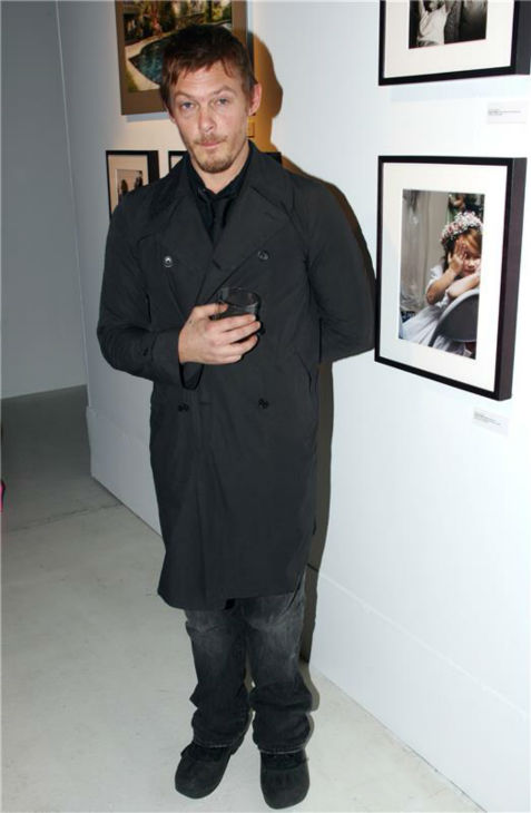 The &#39;Art-Appreciation&#39; stare: Norman Reedus appears at the opening of the gallery &#39;American Character: A Photographic Journey,&#39; hosted by Jeff Goldblum and Mena Suvari, in New York on March 12, 2009. The project is an artistic initiative to capture the character of America and pay tribute to the extraordinary people, from all walks of life, who make this country unique. <span class=meta>(John E. Espinosa  &#47; Startraksphoto.com)</span>