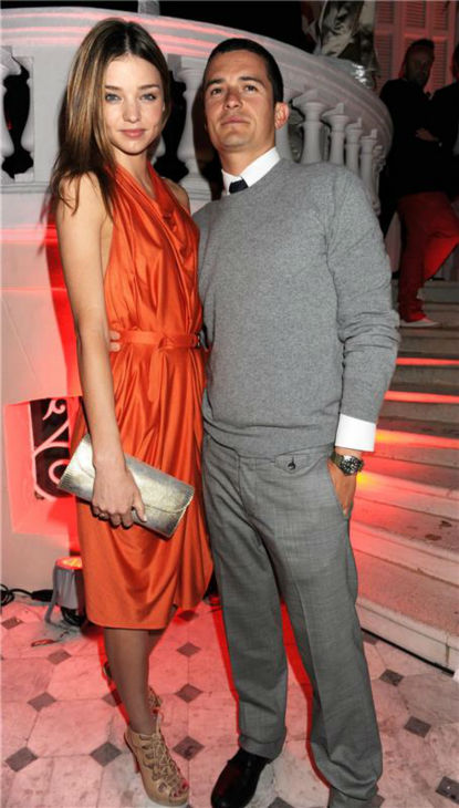 Miranda Kerr and Orlando Bloom appear at the Hollywood Domino Party, hosted by Akvinta Vodka, in Cannes, France on May 18, 2009. <span class=meta>(Richard Young &#47; Startraksphoto.com)</span>