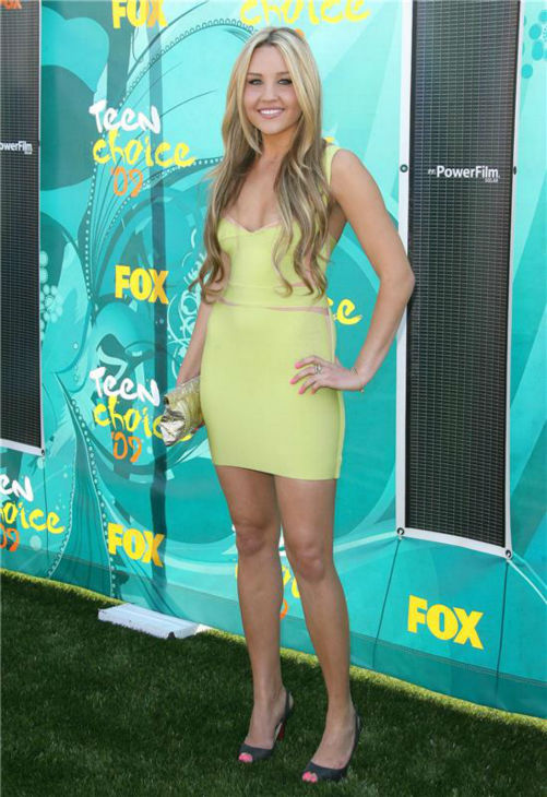Amanda Bynes attends the 2009 Teen Choice Awards in Studio City, Calif
