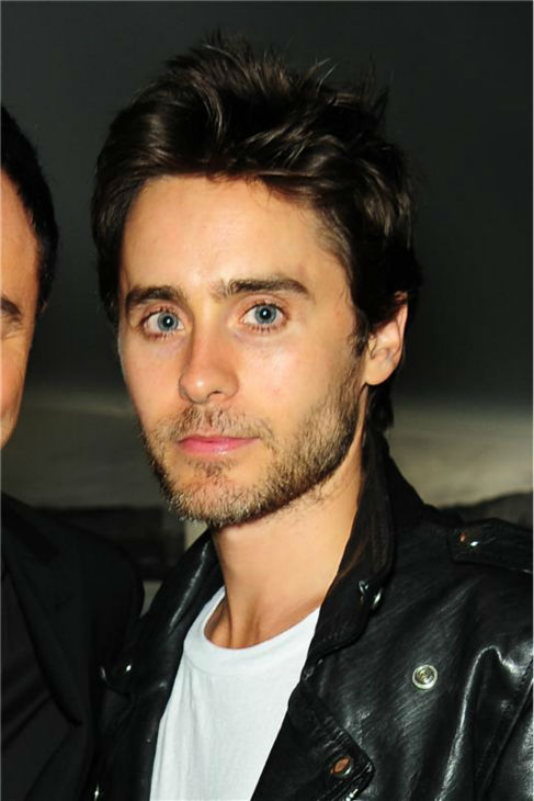The &#39;Classic-Black-Leather-Look&#39; stare: Jared Leto appears at a Sveda Vodka Playground 2033 event celebrating Brent Bolthouse photography in Hollywood, California on Aug. 12, 2009. <span class=meta>(Albert Michael &#47; Startraksphoto.com)</span>