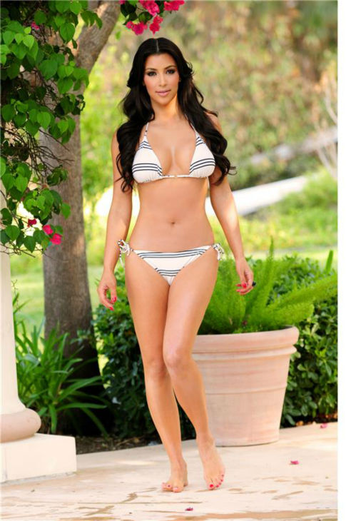 Kim Kardashian appears in a bikini while shooting an episode of the E! reality show &#39;Keeping Up With The Kardashians&#39; in Calabasas, California on Oct. 9, 2010. <span class=meta>(Albert Michael &#47; Startraksphoto.com)</span>