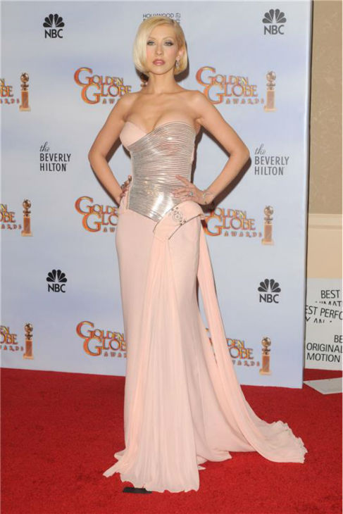 Christina Aguilera walks the red carpet at the 2010 Golden Globe Awards in Los Angeles on Jan. 17, 2010. <span class=meta>(Kyle Rover &#47; Startraksphoto.com)</span>