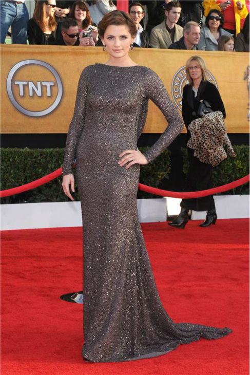 "<div class=""meta ""><span class=""caption-text "">Stana Katic of 'Castle' attends the 2010 Screen Actors Guild (SAG) Awards in Los Angeles on Jan. 23, 2010. (Kyle Rover / Startraksphoto.com)</span></div>"
