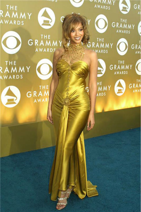 Beyonce appears at the 2004 Golden Globe Awards at the Beverly Hilton hotel in Beverly Hills, California on Jan. 25, 2004.