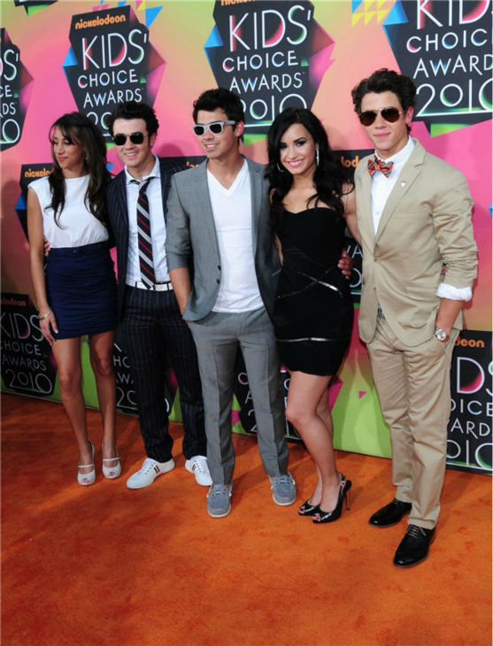 The time the Jonas Brothers attended the 2010 Kids Choice Awards in Westwood, California with Joe Jonas&#39; then-girlfriend and fellow Disney Channel star Demi Lovato on March 27, 2010. <span class=meta>(Kyle Rover &#47; Startraksphoto.com)</span>