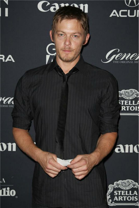The &#39;Miscalculated-How-Warm-Weather-Would-Be-And-We-All-Win&#39; stare: Norman Reedus appears at the premiere of &#39;happythankyoumoreplease&#39; by Josh Radnor at the 2010 Gen Art Film Festival in New York on April 7, 2010. <span class=meta>(Amanda Schwab &#47; Startraksphoto.com)</span>