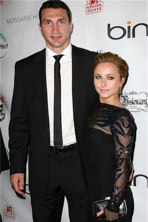 Hayden Panettiere and Wladimir Klitschko attend the Global Home Tree event celebrating 40th anniversary of Earth Day at the JW Marriott. in Los Angeles on April 22, 2010. <span class=meta>(Norman Scott &#47; Startraksphoto.com)</span>