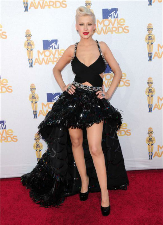 Christina Aguilera walks the red carpet at the 2010 MTV Movie Awards in Los Angeles on June 6, 2010. <span class=meta>(Kyle Rover &#47; Startraksphoto.com)</span>