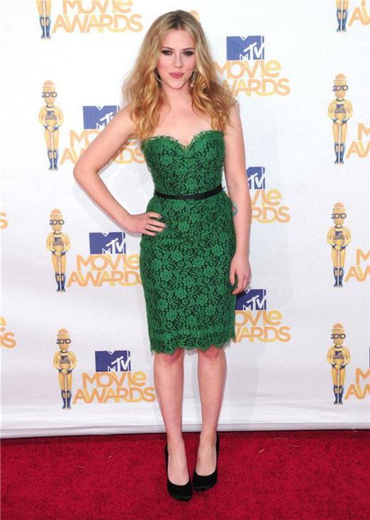 Scarlett Johansson attends the 2010 MTV Movie Awards in Los Angeles on June 6, 2010. <span class=meta>(Kyle Rover &#47; Startraksphoto.com)</span>