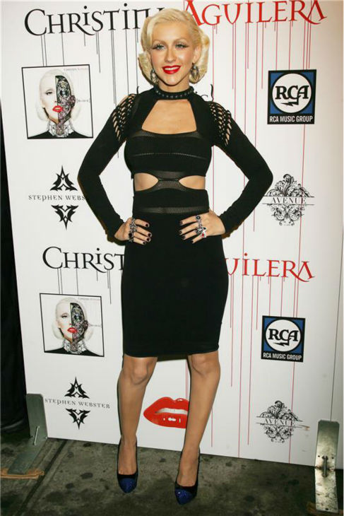 Christina Aguilera attends a release party for her album &#39;Bionic&#39; at Avenue nightclub in New York on June 9, 2010. <span class=meta>(Dave Allocca &#47; Startraksphoto.com)</span>