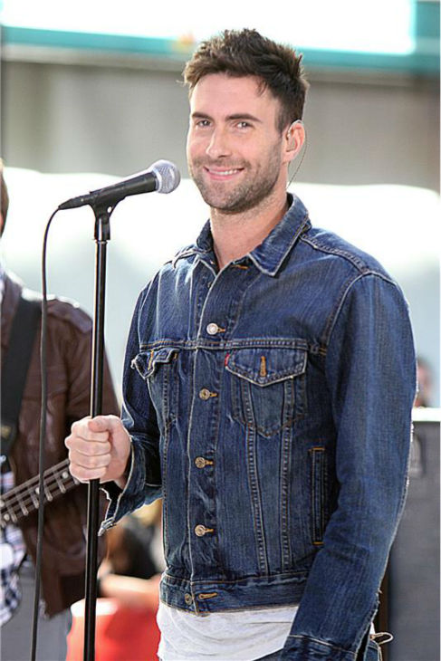The &#39;Denim-Rocks&#39; stare: Adam Levine performs with Maroon 5 on the &#39;Today&#39; show in New York on July 2, 2010. <span class=meta>(Mr. Black &#47; Startraksphoto.com)</span>