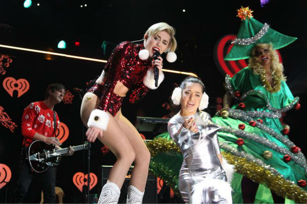 Miley Cyrus performs on stage at the 2013 Z100 Jingle Ball on Dec. 13, 2013. <span class=meta>(Amanda Schwab &#47; Startraksphotos.com)</span>