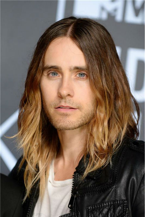 The &#39;Back-At-The-VMAs-And-Looking-Amazing&#39; stare: Jared Leto appears at the 2013 MTV Video Music Awards in New York on Aug. 25, 2013. <span class=meta>(Lionel Hahn &#47; AbacaUSA &#47; Startraksphoto.com)</span>
