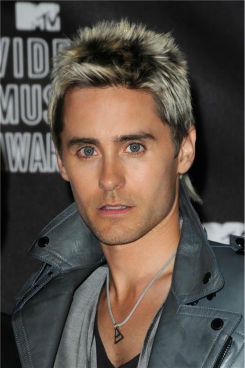 The 'Multicolored-Hair-Look' stare: Jared Leto appears at the 2010 MTV Video Music Awards in Los Angeles on Sept. 12, 2010.