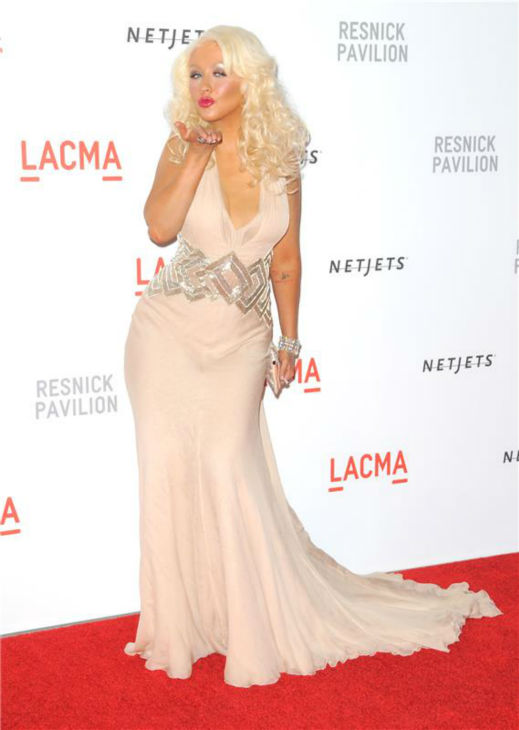 Christina Aguilera attends the LACMA Resnick Pavilion Opening Gala in Los Angeles on Sept. 25, 2010. <span class=meta>(Sara De Boer &#47; Startraksphoto.com)</span>