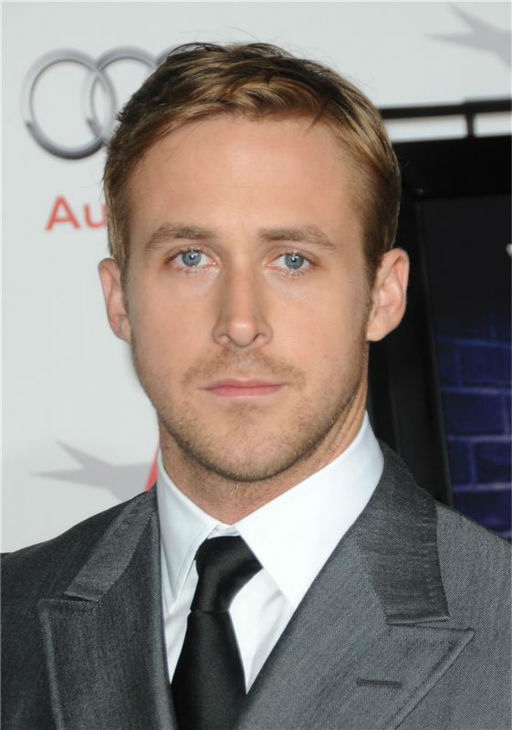 The 'Nuff-Said' stare: Ryan Gosling appears at the premiere of 'Blue Valentine' during AFI Fest 2010 in Hollywood, California on Nov. 6, 2010.