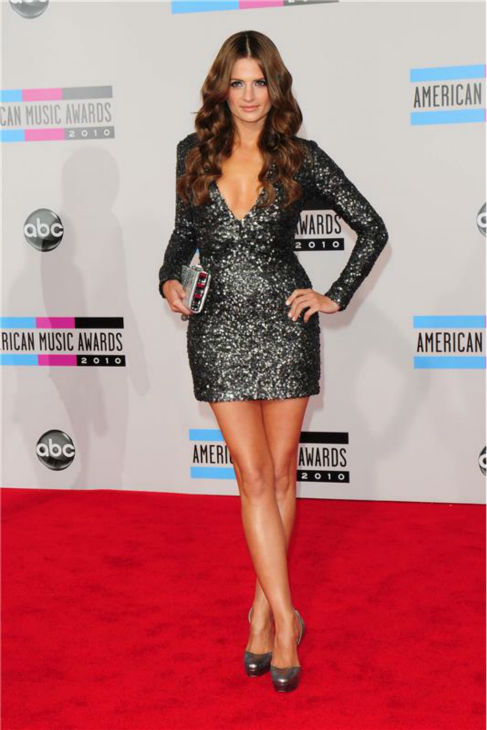 "<div class=""meta image-caption""><div class=""origin-logo origin-image ""><span></span></div><span class=""caption-text"">Stana Katic of 'Castle' appears at the 2010 American Music Awards at the Nokia Theatre L.A. Live in Los Angeles on Nov. 21, 2010. (Kyle Rover / Startraksphoto.com)</span></div>"