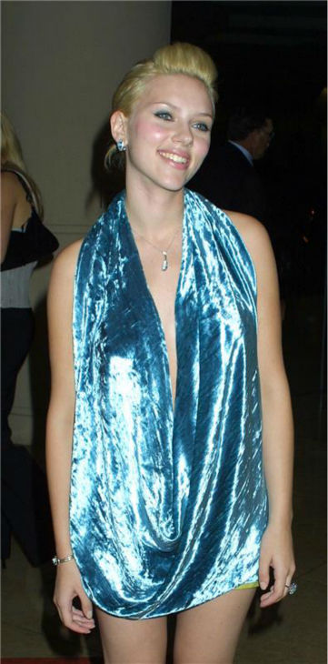 Scarlett Johansson attends the 2003 Hollywood Awards Gala at the Beverly Hilton Hotel inBeverly Hills, California on Oct. 20, 2003. <span class=meta>(Startraksphoto.com)</span>