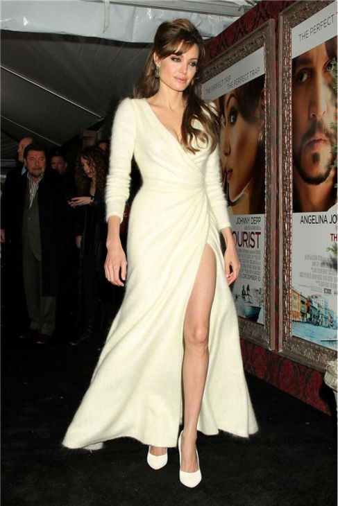 Angelina Jolie attends the premiere of &#39;The Tourist&#39; in New York on Dec. 6, 2010. <span class=meta>(Dave Allocca &#47; Startraksphoto.com)</span>