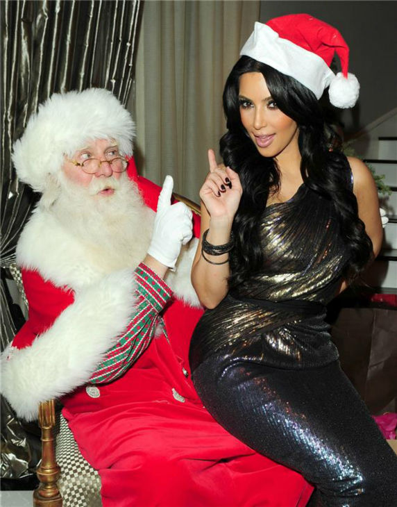 EXCLUSIVE-Los Angeles,CA- 12&#47;24&#47;2010 - The Kardashian`s Holiday Party.  -PICTURED: Kim Kardashian, Santa Claus -PHOTO by: Jake Holly&#47;startraksphoto.com  -JHd10322  Startraks Photo New York, NY For licensing please call 212-414-9464 or email sales@startraksphoto.com   Event # 3B32EE76174 Picture # 3B32EE8212 <span class=meta>(Photo&#47;JAKE HOLLY)</span>