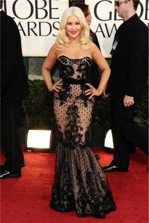 Christina Aguilera walks the red carpet at the 2011 Golden Globe Awards in Beverly Hills, California on Jan. 16, 2011. <span class=meta>(Kyle Rover &#47; Startraksphoto.com)</span>