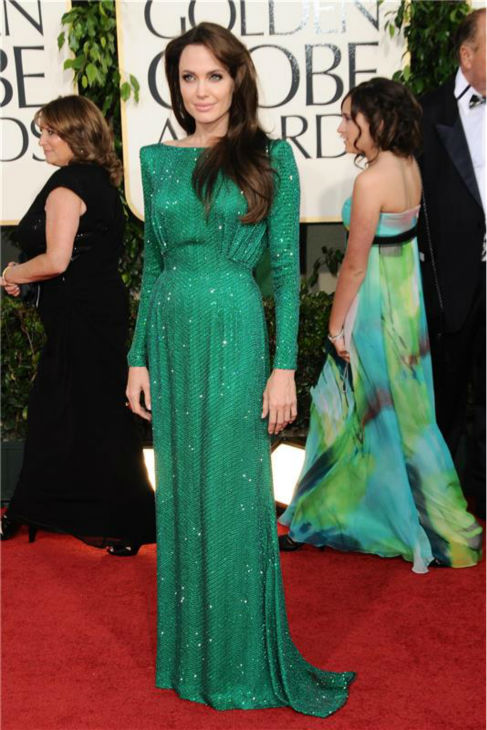 Angelina Jolie attends the 2011 Golden Globe Awards in Beverly Hills, California on Jan. 16, 2011.