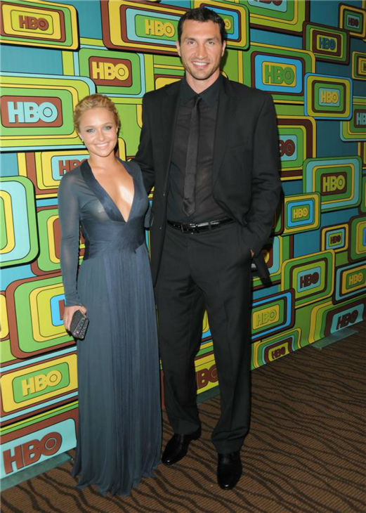 Hayden Panettiere and Wladimir Klitschko attend HBO&#39;s Golden Globes after party in Beverly Hills, California on Jan. 16, 2011. <span class=meta>(Hollywoodpress &#47; Startraksphoto.Com)</span>