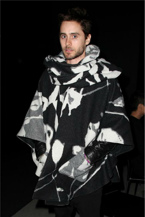 The &#39;Baby-It&#39;s-Cold-Outside&#39; stare: Jared Leto appears at NYLON magazine&#39;s party celebrating their February 2011 issue, featuring cover girl Leighton Meester, at the W Downtown Hotel in New York on Feb. 1, 2011. <span class=meta>(Amanda Schwab &#47; Startraksphoto.com)</span>