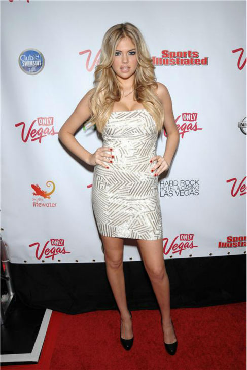 Kate Upton walks the red carpet at a party celebrating the 2011 Sports Illustrated Swimsuit issue at the Hard Rock Hotel and Casino in Las Vegas, Nevada on Feb. 17, 2011. <span class=meta>(Dave Proctor &#47; Startraksphoto.com)</span>