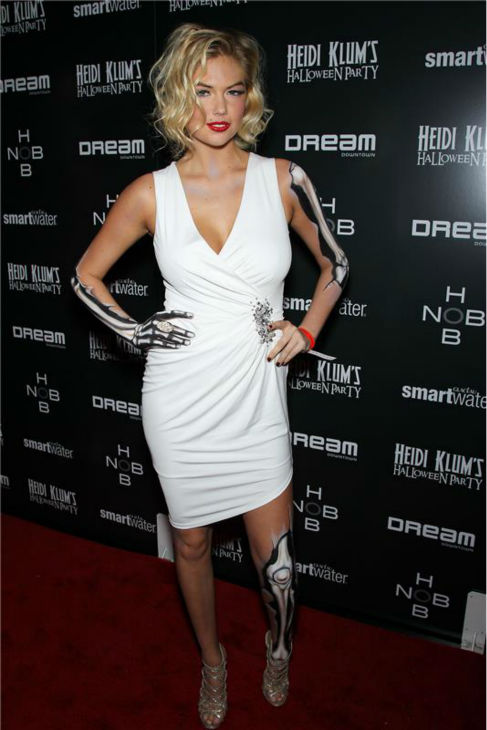 Kate Upton attends Heidi Klum&#39;s 12th annual Halloween party, presented by Hobnob Wines and Smartwater,  in New York on Oct. 31, 2011. <span class=meta>(Marion Curtis &#47; Startraksphoto.com)</span>