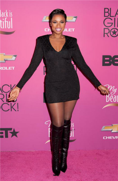 Jennifer Hudson debuts a short hairstyle at BET's 2013 Black Girls Rock event at the New Jersey Performing Arts Center in Newark, New Jersey on Oct.