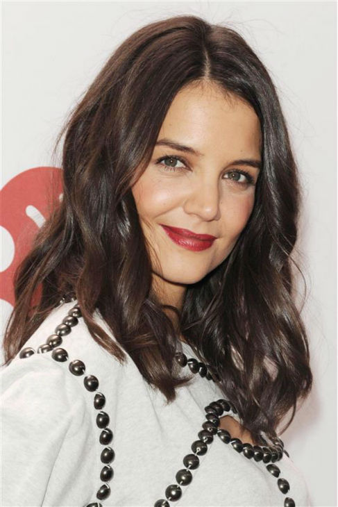 Katie Holmes walks the red carpet at the 2013 Z100 Jingle Ball at Madison Square Garden in New York on Dec. 13, 2013. <span class=meta>(Bill Davila &#47; Startraksphoto.com)</span>