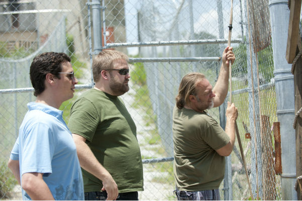 Executive Producer David Alpert, Show Creator Robert Kirkman and CoExecutive Producer&#47;SFX Makeup Supervisor Greg Nicotero appear on the set of AMC&#39;s &#39;The Walking Dead&#39; while filming episode 2 of season 4, titled &#39;Infected,&#39; which aired on Oct. 20, 2013. <span class=meta>(Gene Page &#47; AMC)</span>