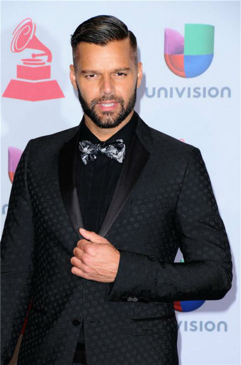 Ricky Martin arrives at the 2013 Latin Grammy Awards at the Mandalay Bay Hotel and Casino in Las Vegas on Nov. 21, 2013.to.com