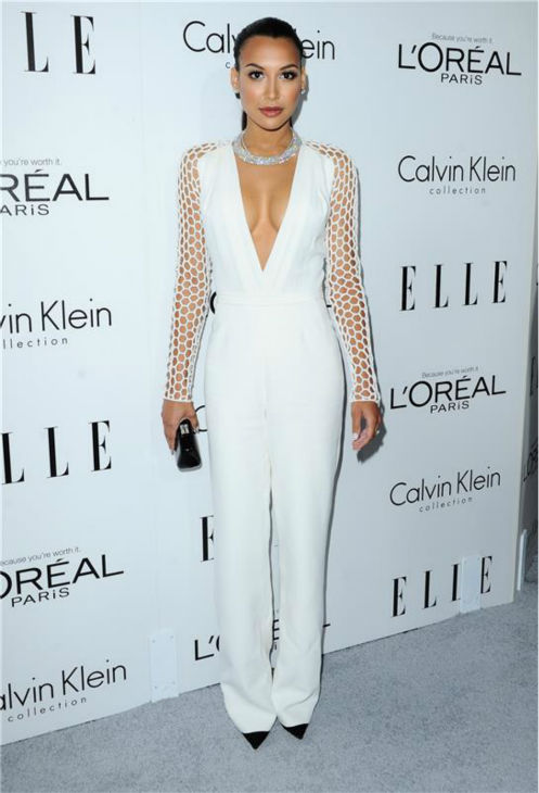 Naya Rivera of 'Glee' attends ELLE's 20th Annual Women In Hollywood gala in Beverly Hills, California on Oct. 21, 2013.
