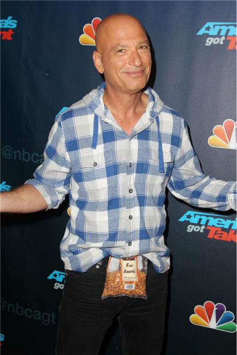"<div class=""meta image-caption""><div class=""origin-logo origin-image ""><span></span></div><span class=""caption-text"">'America's Got Talent' co-judge Howie Mandel poses on the red carpet after the season 8 finale at Radio City Music Hall in New York on Sept. 18, 2013. (Amanda Schwab / Startraksphoto.com)</span></div>"