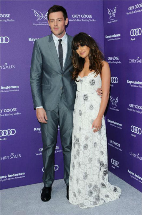 Cory Monteith and Lea Michele attend the 2013 Chrysalis Butterfly Ball in Brentwood, California on June 8, 2013.