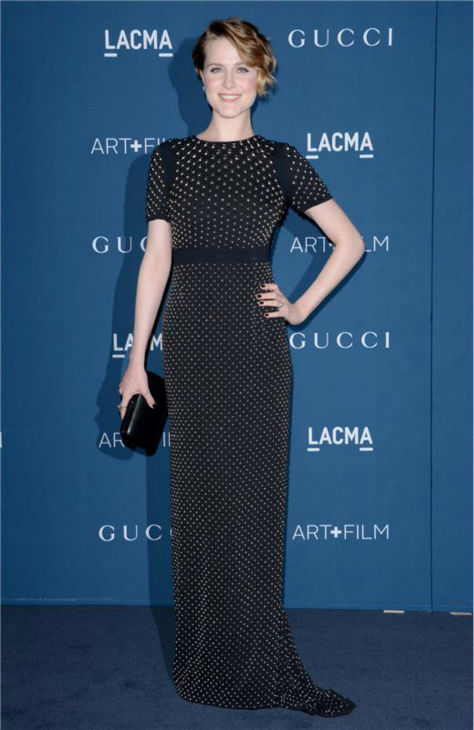 Evan Rachel Wood appears at the LACMA Art and Film Gala, honoring Martin Scorsese And David Hockney, at the Los Angeles County Museum of Art on Nov. 2, 2013.